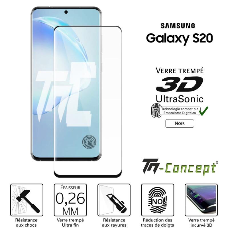 OnePlus 6T - Verre trempé intégral Protect Noir - adhérence 100% nano-silicone - TM Concept®