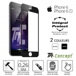 Apple iPhone 6 / 6S - Verre trempé intégral Protect - adhérence 100% nano-silicone - TM Concept®