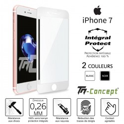 Apple iPhone 7 - Verre trempé intégral Protect - adhérence 100% nano-silicone - TM Concept®
