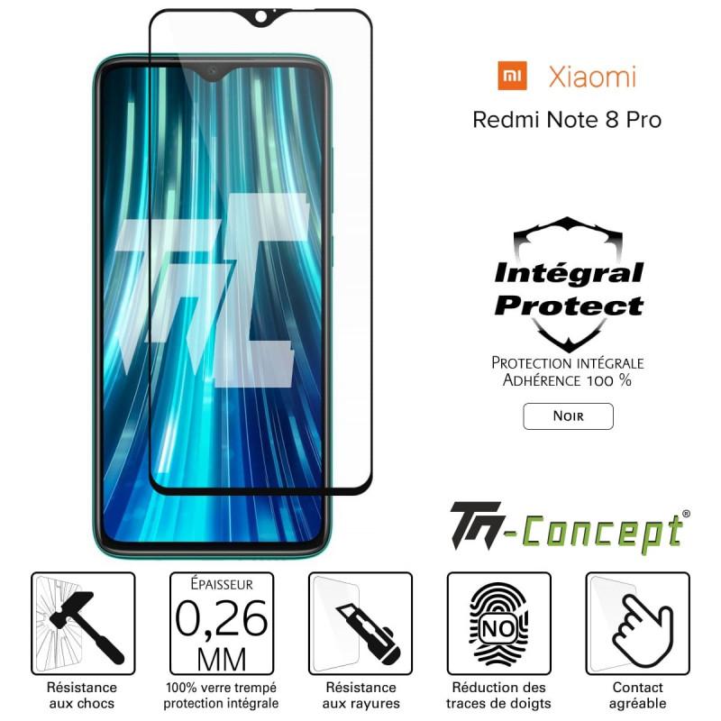 Apple iPhone 7 - Verre trempé intégral Protect Noir - adhérence 100% nano-silicone - TM Concept®
