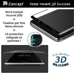 Apple iPhone 7 Plus - Verre trempé intégral Protect - adhérence 100% nano-silicone - TM Concept®