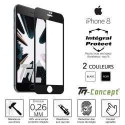 Apple iPhone 8 - Verre trempé intégral Protect - adhérence 100% nano-silicone - TM Concept®