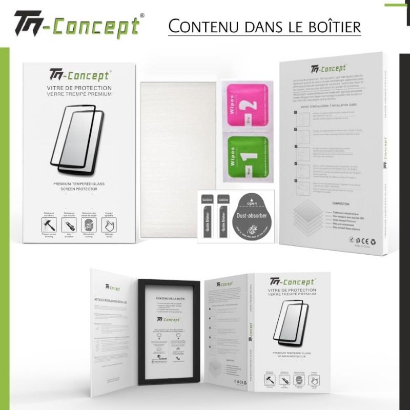 Apple iPhone XS - Verre trempé intégral Protect Noir - adhérence 100% nano-silicone - TM Concept®