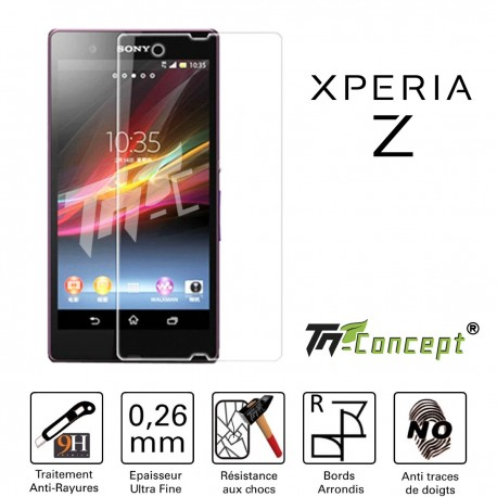 Sony Xperia Z - Vitre de Protection Crystal - TM Concept®