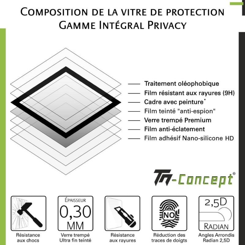 Huawei Mate 20 - Verre trempé intégral Protect Noir - adhérence 100% nano-silicone - TM Concept®