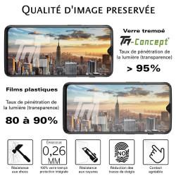 Samsung Galaxy A8+ (2018) - Verre trempé intégral Protect Noir - adhérence 100% nano-silicone - TM Concept®