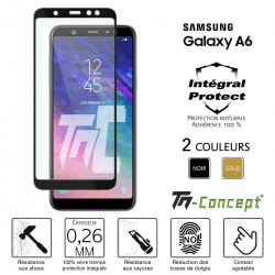 Samsung Galaxy A6 (2018) - Verre trempé intégral Protect - adhérence 100% nano-silicone - TM Concept®