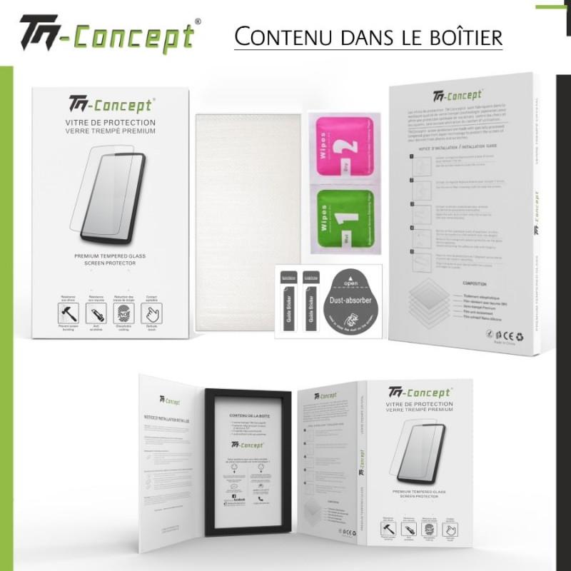 Samsung Galaxy A6 Plus (2018) - Verre trempé intégral Protect Noir - adhérence 100% nano-silicone - TM Concept®