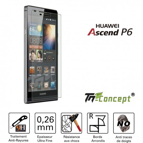Huawei Ascend P6 - Vitre de Protection Crystal - TM Concept®