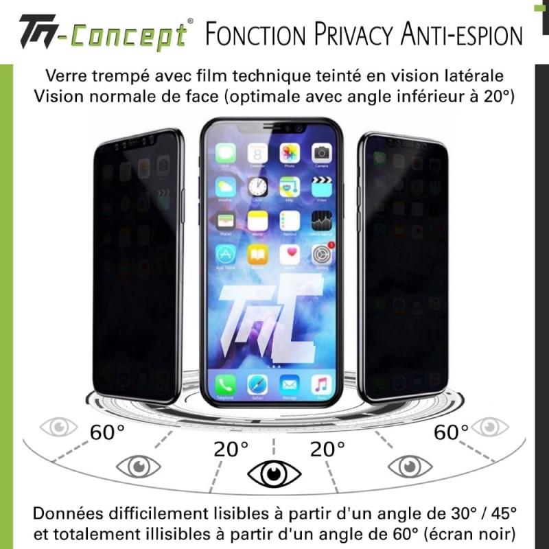 Samsung Galaxy A20 - Verre trempé intégral Protect Noir - adhérence 100% nano-silicone - TM Concept®