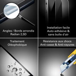 Xiaomi Redmi Note 6 Pro - Verre trempé intégral Protect Noir - adhérence 100% nano-silicone - TM Concept®