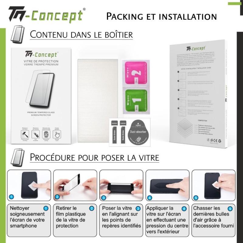 Huawei P20 Lite - Verre trempé intégral Protect Noir - adhérence 100% nano-silicone - TM Concept®