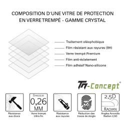 Huawei Nova 3e - Verre trempé intégral Protect Noir - adhérence 100% nano-silicone - TM Concept®