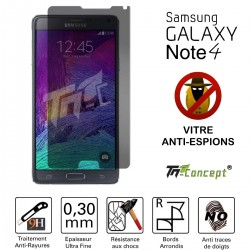 Samsung Galaxy Note 4 - Vitre de Protection Anti-Espions - TM Concept®