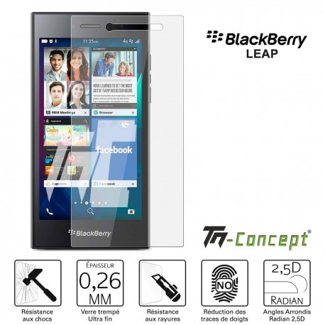 BlackBerry Leap - Verre trempé TM Concept® - Gamme Crystal