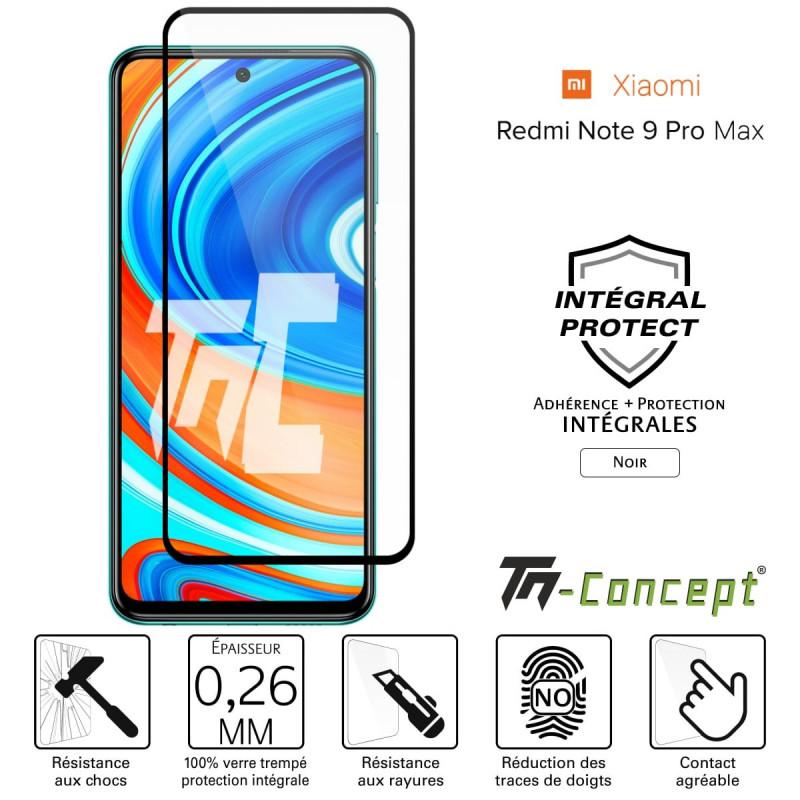 Xiaomi Mi 8 SE - Verre trempé intégral Protect Noir - adhérence 100% nano-silicone - TM Concept®