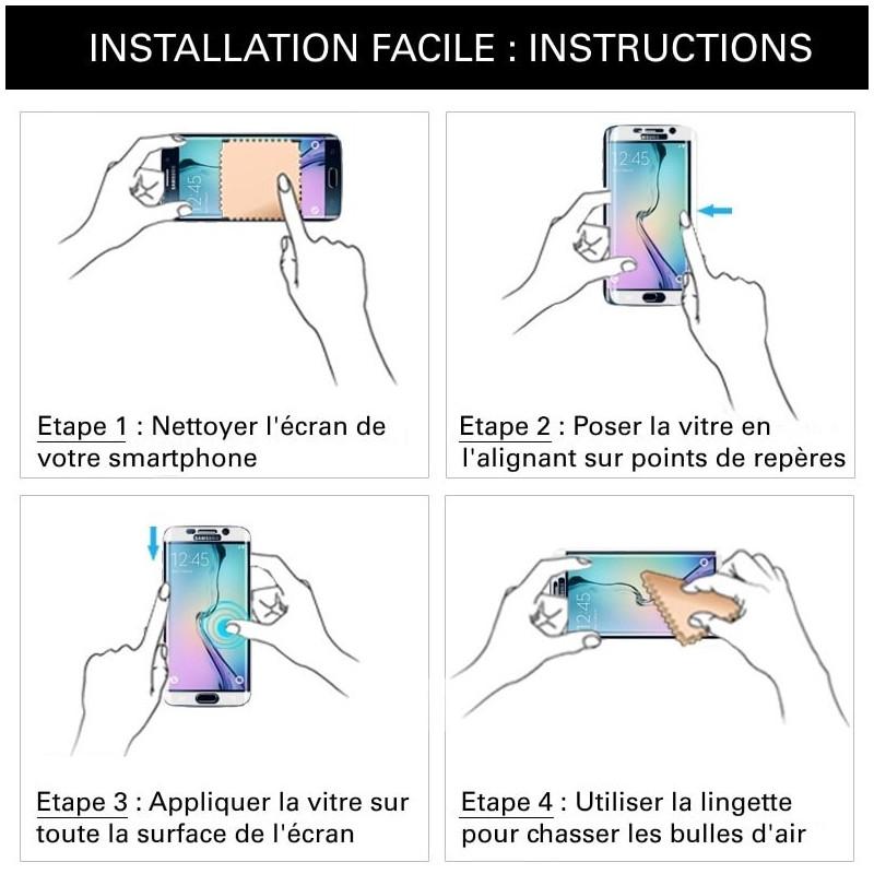 Xiaomi Mi 9 SE - Verre trempé intégral Protect Noir - adhérence 100% nano-silicone - TM Concept®