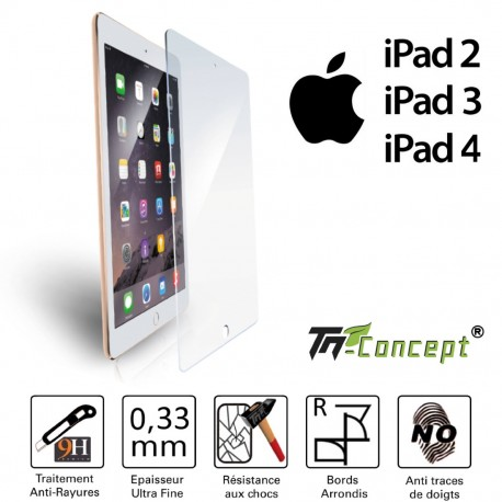 Ipad 2 / 3 / 4 - Vitre de Protection Tablette - TM Concept®