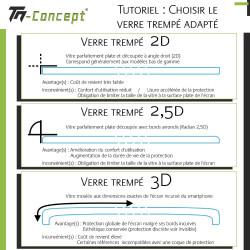 Samsung Galaxy A7 (2018) - Verre trempé intégral Protect Noir - adhérence 100% nano-silicone - TM Concept®