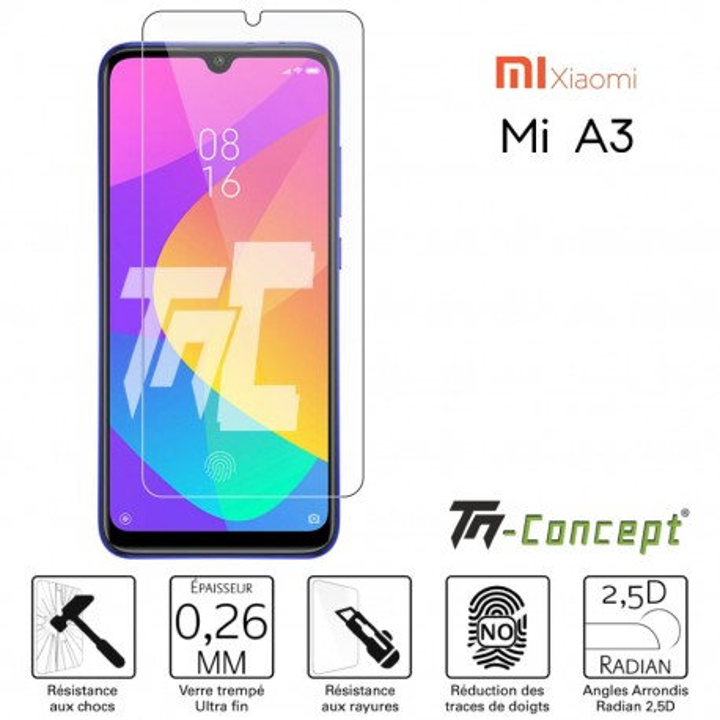 Xiaomi Mi A3 - Verre trempé TM Concept® - Gamme Crystal