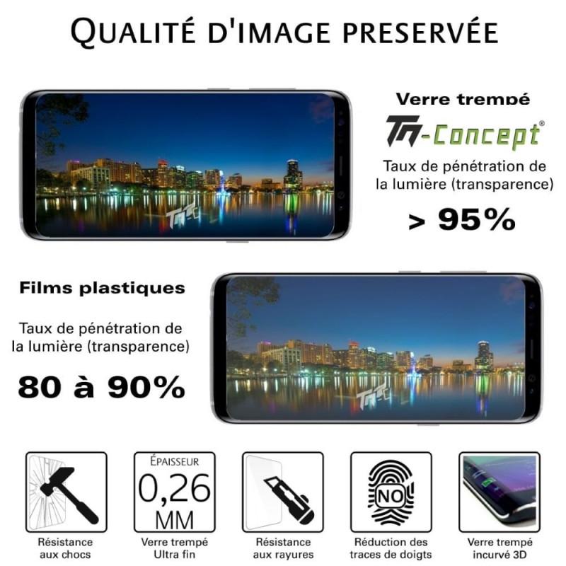 Samsung Note 10 - Verre trempé 3D incurvé - TM Concept®