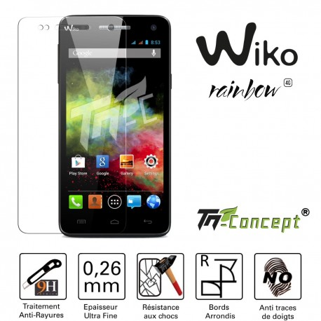 Wiko Rainbow - Vitre de Protection Crystal - TM Concept®