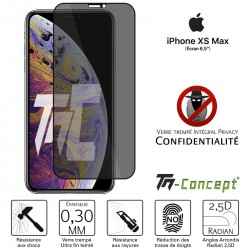 Apple iPhone XS Max - Verre trempé Anti-Espions - Intégral Privacy - TM Concept®