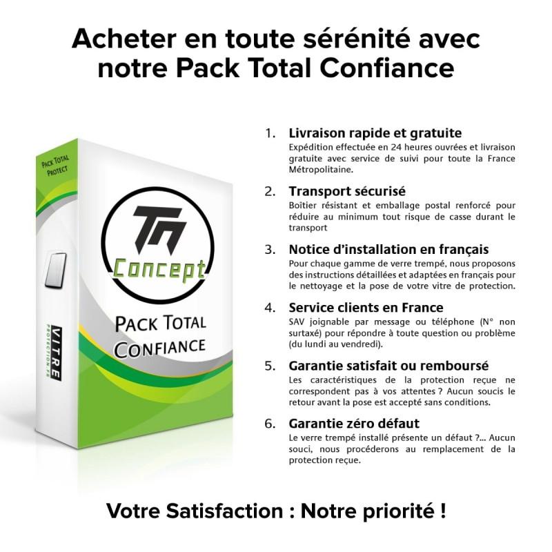 Nokia 7.1 - Verre trempé intégral Protect Noir - adhérence 100% nano-silicone - TM Concept®