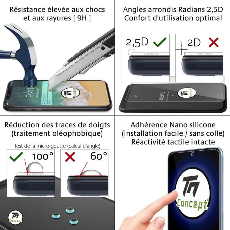 LG K8 (2017) - Verre trempé TM Concept® - Gamme Crystal
