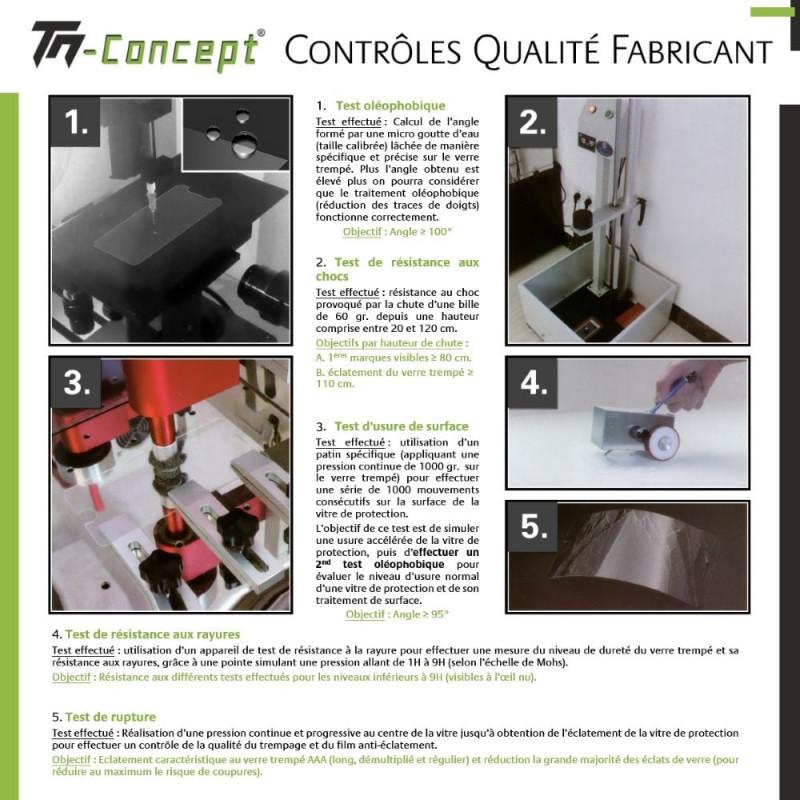 Samsung Galaxy A7 - Verre trempé intégral Protect Noir - adhérence 100% nano-silicone - TM Concept®