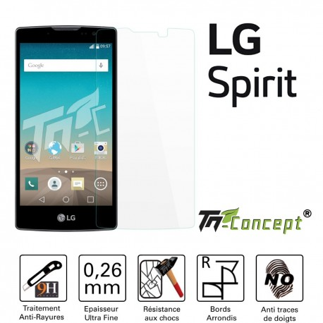 LG Spirit - Vitre de Protection Crystal - TM Concept®