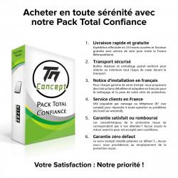 Samsung Galaxy J4+ (2018) - Verre trempé intégral Protect Noir - adhérence 100% nano-silicone - TM Concept®