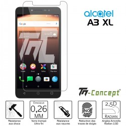Alcatel A3 XL - Verre trempé TM Concept® - Gamme Crystal