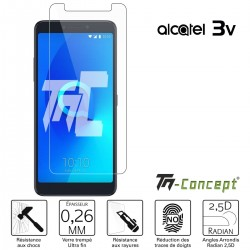 Alcatel 3V - Verre trempé TM Concept® - Gamme Crystal