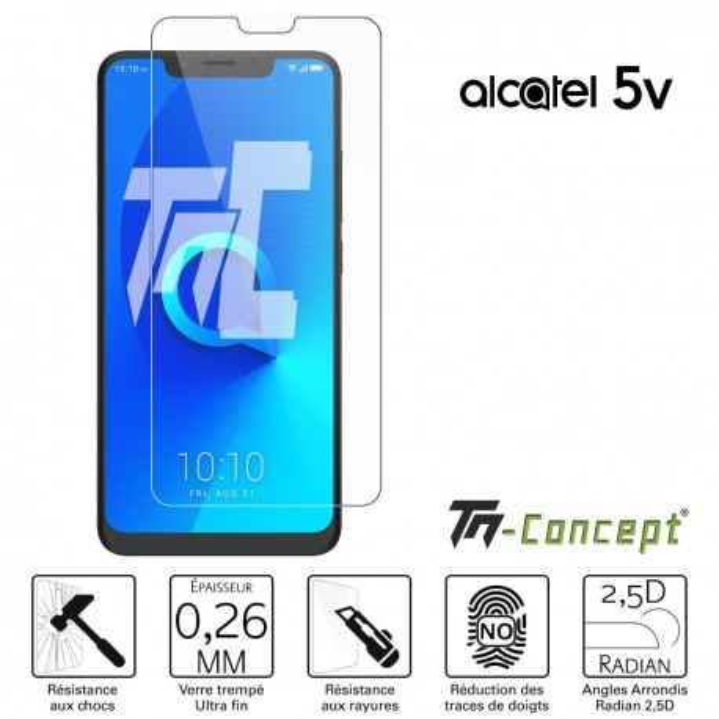 Alcatel 5V - Verre trempé TM Concept® - Gamme Crystal