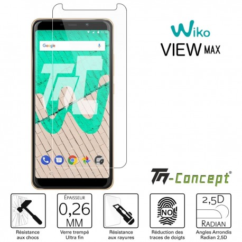 Wiko View Max - Verre trempé TM Concept® - Gamme Crystal