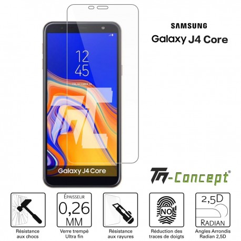Samsung Galaxy J4 Core - Verre trempé TM Concept® - Gamme Crystal