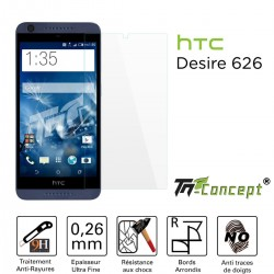 HTC Desire 626 - Vitre de Protection Crystal - TM Concept®