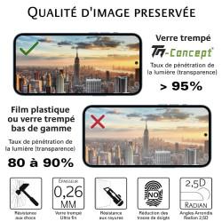 Samsung Galaxy J6 (2018) - Verre trempé intégral Protect Noir - adhérence 100% nano-silicone - TM Concept®
