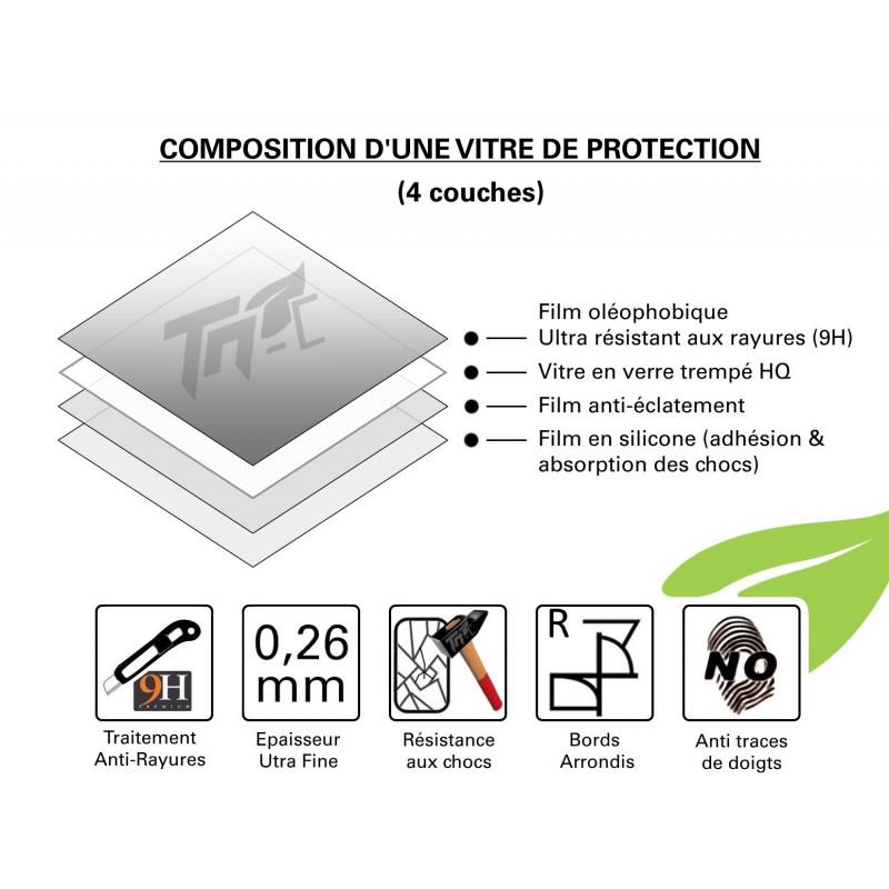 HTC Desire 826 - Vitre de Protection Crystal - TM Concept®