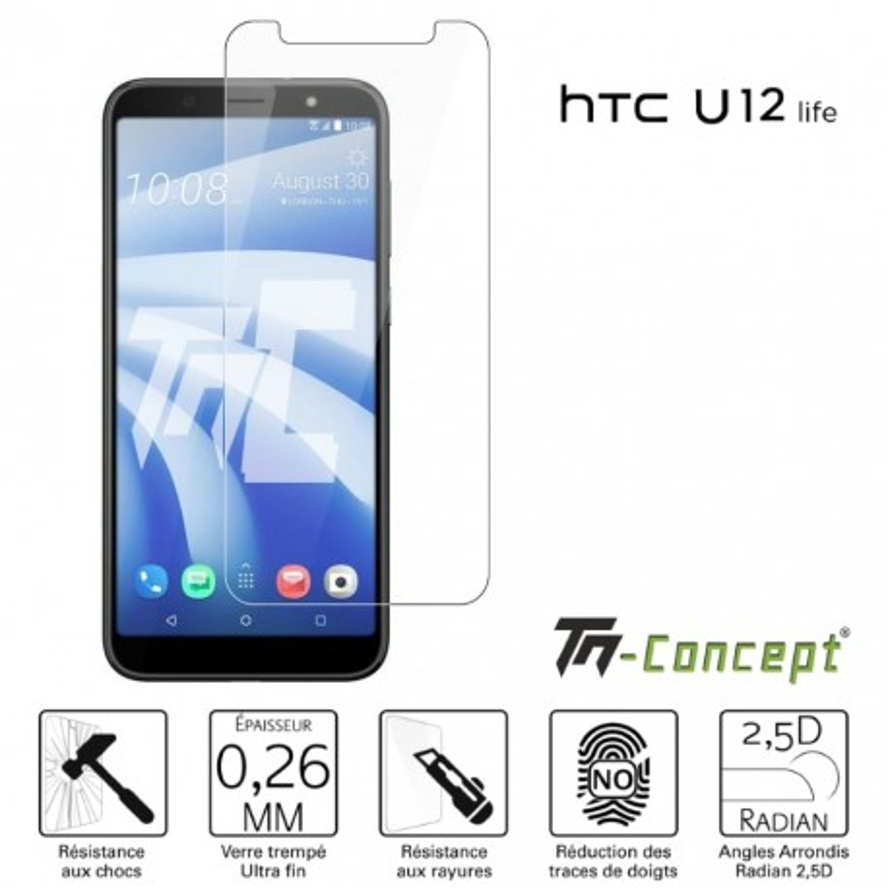 HTC U12 Life - Verre trempé TM Concept® - Gamme Crystal