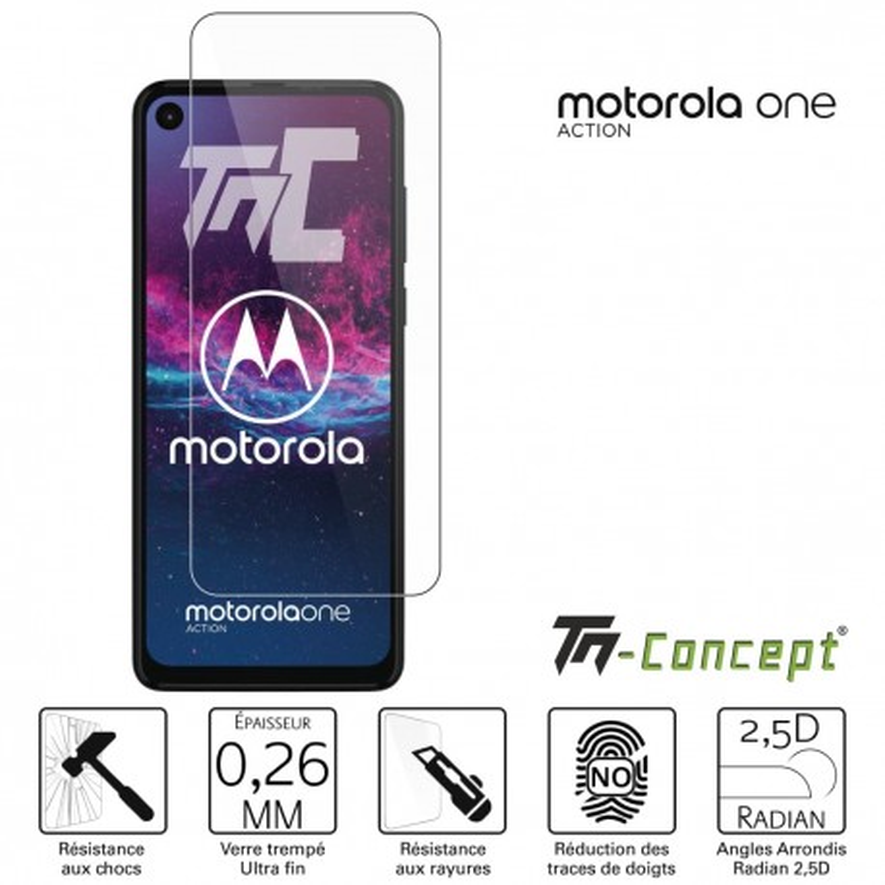 Motorola One Action - Verre trempé TM Concept® - Gamme Crystal