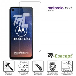 Motorola One Vision - Verre trempé TM Concept® - Gamme Crystal