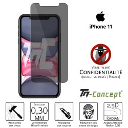 Apple iPhone 11 - Verre trempé Anti-Espions - TM Concept®
