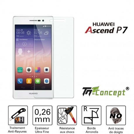 Huawei Ascend P7 - Vitre de Protection Crystal - TM Concept®