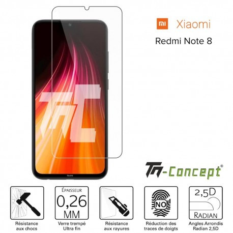 Xiaomi Redmi Note 8 / Note 8T - Verre trempé TM Concept® - Gamme Crystal