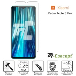 Xiaomi Redmi Note 8 Pro - Verre trempé TM Concept® - Gamme Crystal