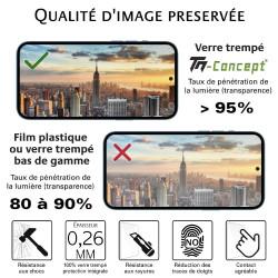 Xiaomi Mi A3 - Verre trempé intégral Protect Noir - adhérence 100% nano-silicone - TM Concept®