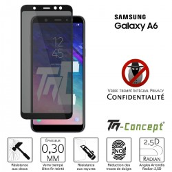 Samsung Galaxy A6 (2018) - Verre trempé Anti-Espions - Intégral Privacy - TM Concept®
