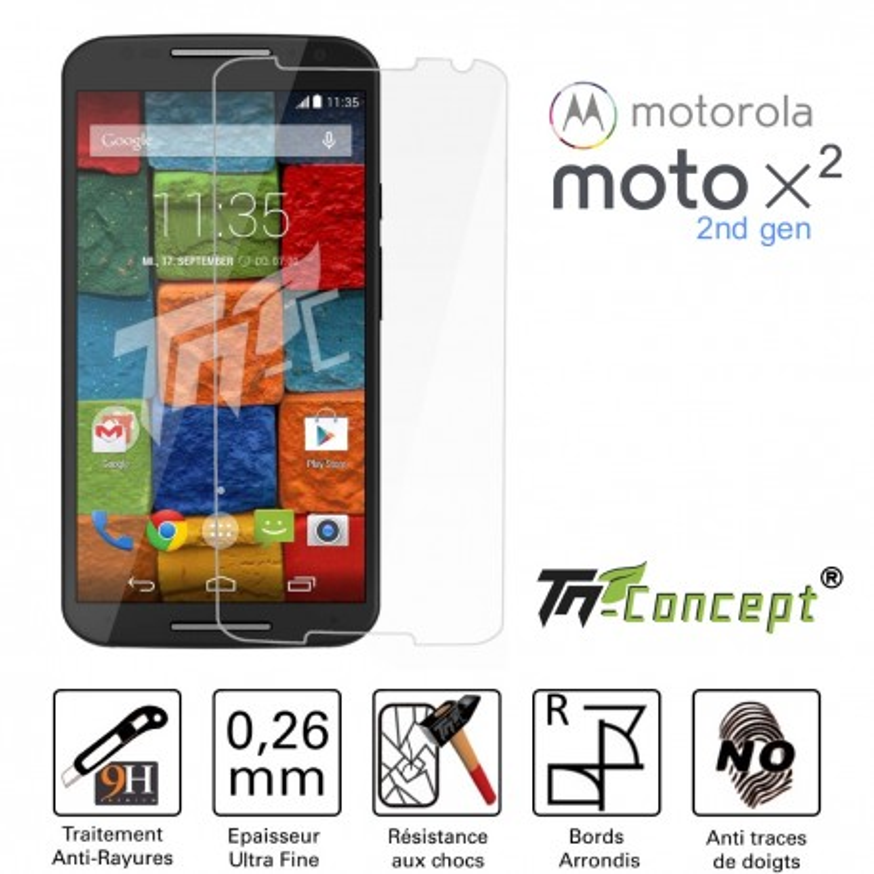 Motorola Moto X2 - Vitre de Protection Crystal - TM Concept®
